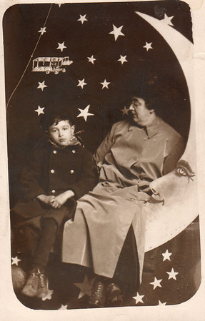 Norval Timmons with mother, Florence Carson Timmons