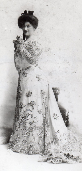 Agnes Timmons Champeaux, in concert costume
