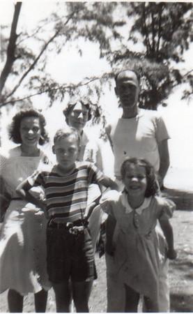 Front: Jimmy, Julie; Back: Dorothy, Nora Wittman, Gene