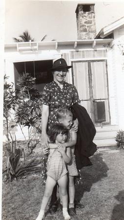 Front to Back: Julie, Jimmy, Grandmother Emma Glass