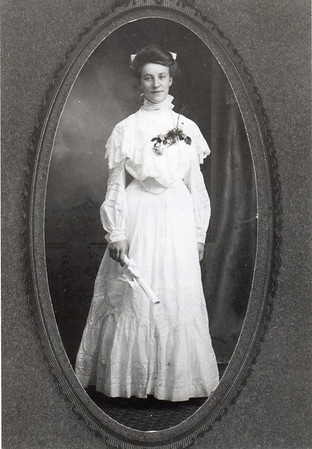 Emma Walburga Wittman graduating from St. Mary's High School, c. 1901