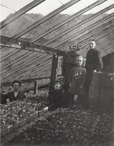 L to R: Nearly off: Dorothea C; Emma W. Edwin A., Nora E., Ellen V., Margaret Dill Wittman c. 1900