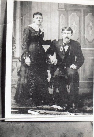 Margaret Dill and John Michael Wittman, wedding picture, Jan. 31, 1882