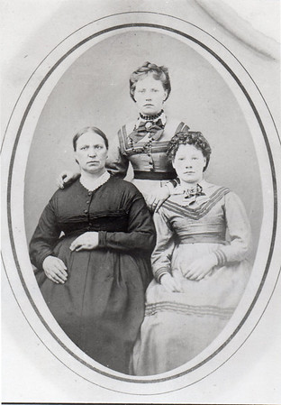 L to R: Barbara Schissel Dill, Josephine Dill (married Kyler), Margaret Mathilde Dill (married Wittman), c. 1875