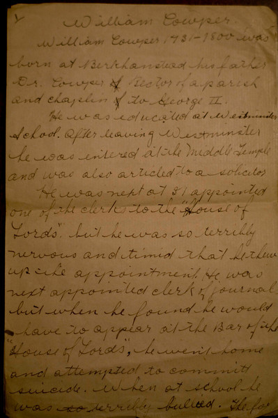 William Cowper?  - page 1 of 3