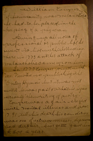 William Cowper?  - page 2 of 3