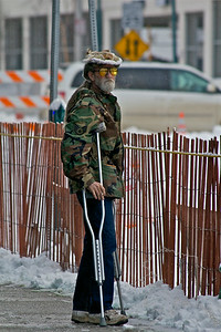 2012 Fur Rondy Sprint Dog Races in Anchorage. This is a world class dog race with competitors from all over the world come to race there dogs.  Thank you SGT. for your service.