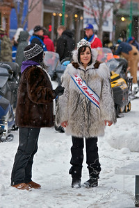 2012 Fur Rondy Sprint Dog Races in Anchorage. This is a world class dog race with competitors from all over the world come to race there dogs. Our royalty for the events.