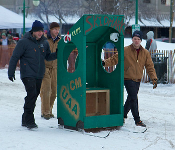 Tons of fun in the middle of winter. As Alaskans are spending the hard winter in there houses, they get anxious to be outside and doing something. This is what this race is all about. Getting outside and doing something crazy and fun. I think there were more people their for the Outhouse Races then the Sprint Dog Races.