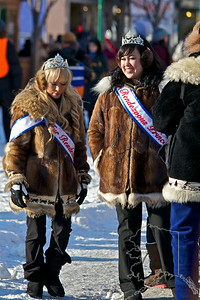 2012 Fur Rondy Sprint Dog Races in Anchorage. This is a world class dog race with competitors from all over the world come to race there dogs. Rondy Royalty.