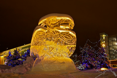 The Ice Sculptures in Anchorage this yesr. These are built by local artists every year around Fur Rondy time.