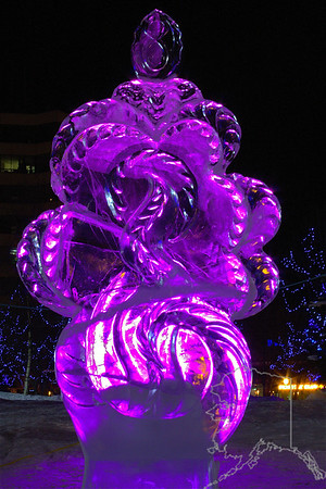 Every year Anchorage has a ice carving contest.