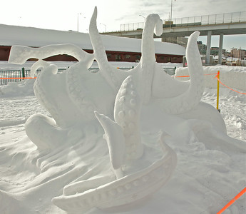 2012 Fur Rondy Snow Sculptures. Favorites were the kraken and the Dragons.
