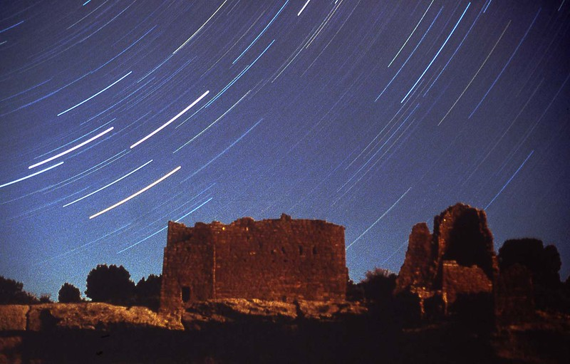 Hovenweep Castle lit by quarter moon.  90 minute exposure.