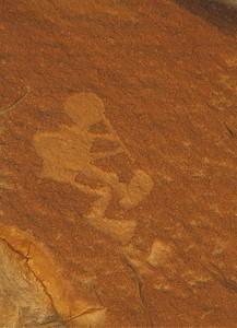 Kokopelli.  Chaco Canyon N.H.P., New Mexico