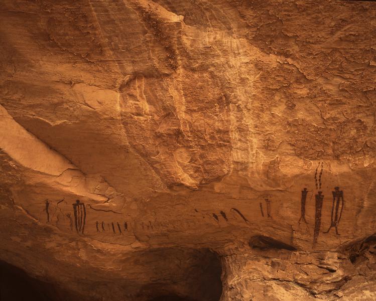 Ochre Cave Panel near Goblin Valley State Park, Utah.
