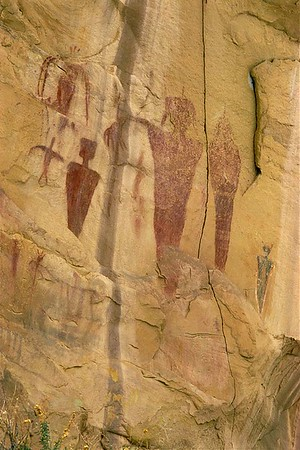Sego Canyon Archaic Pictographs detail.  Thompson Springs, Utah