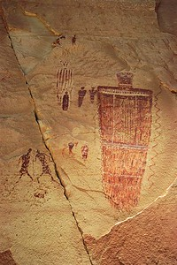 Great Gallery Detail.  Horseshoe Canyon, Canyonlands National Park, Utah