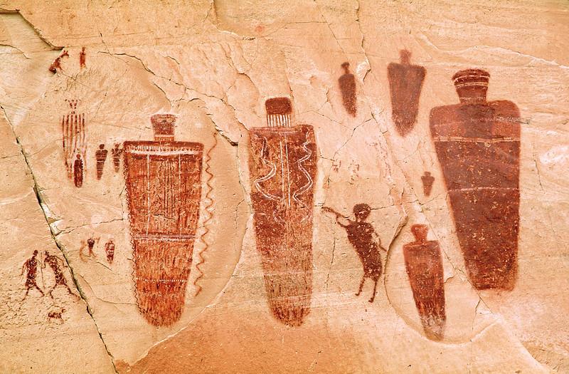 Great Gallery Detail.  Horseshoe Canyon, Canyonlands National Park, Utah