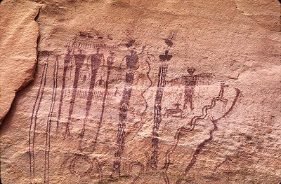 Buckhorn Wash pictograph panel 2