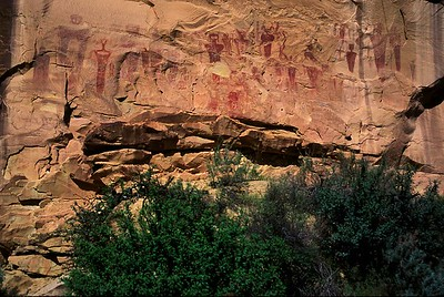 Sego Canyon Archaic Pictographs.  Thompson Springs, Utah