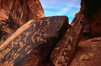 Eagle Men.  North fork of Mill Creek Canyon.  Moab, Utah