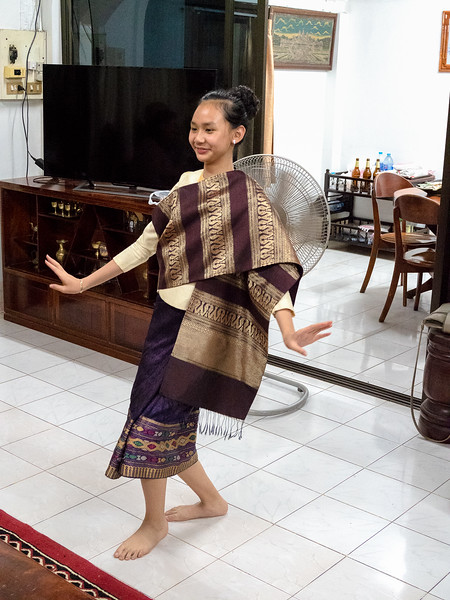 The  granddaughter  performing an after-dinner dance.