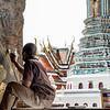 Restoring murals at the Grand Palace of Thailand,  Bangkok.