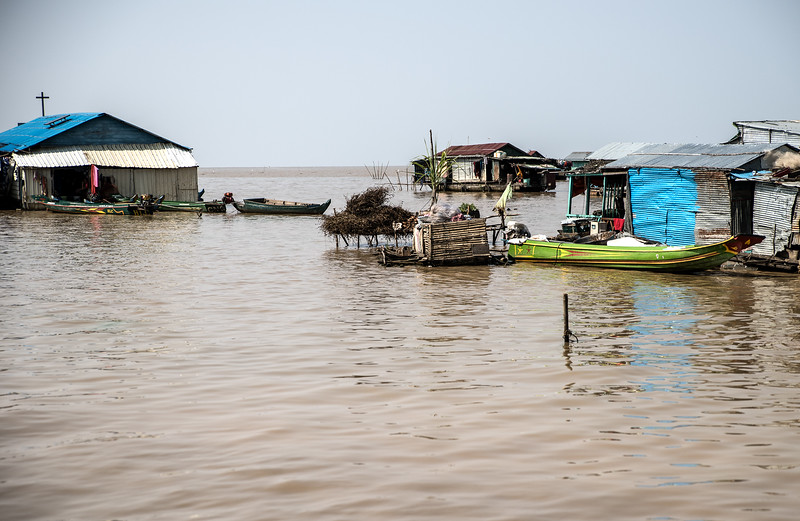 Tonle  Sap Lake Village, Cambodia.