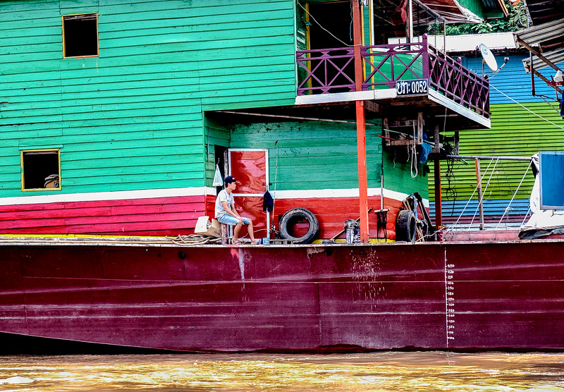 Boat, Mekong River.
