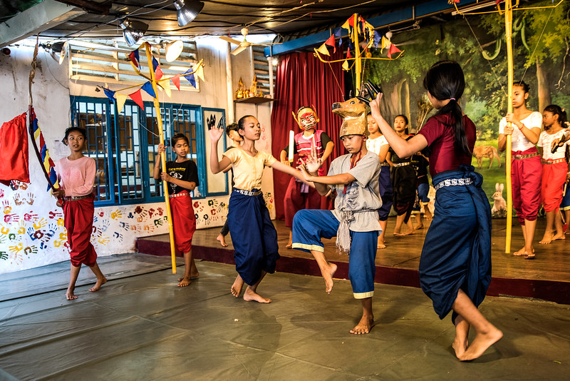 Dance students at the Champey Academy of Arts,  Phnom Penh, Cambodia.