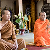 We talked with two monks at the Wat Sri Salet temple in Laos and learned about their way of life. Even got a lesson in meditation.