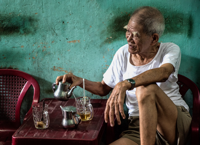 Tea time in  Saigon.
