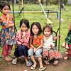 Lao, Hmong,  Khmuic children  in village of  Ban Tin Kaew .