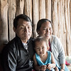 Hmong man and family.