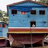 Boat on Mekong River, Laos.