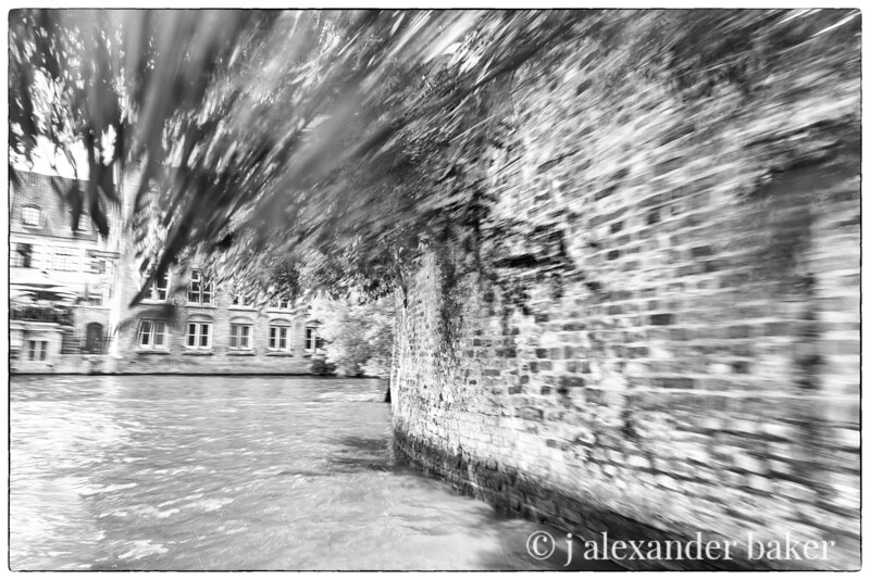 Whizzing down the canal, Bruges