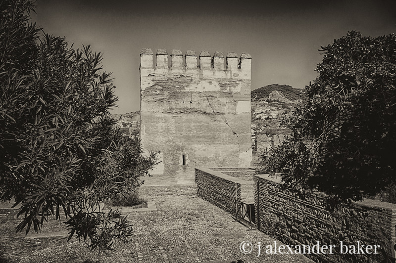 Crenellated Tower, Alhambra, Grenada, Spain