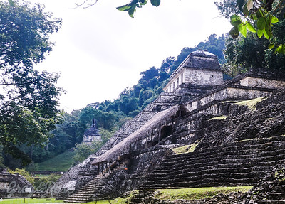 Temple structures at Palenque