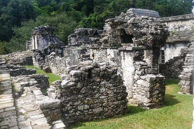 Dwelling areas of the Mayan