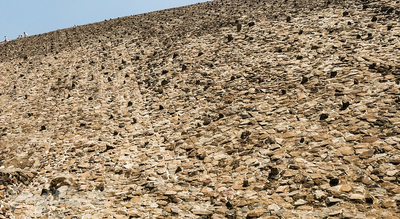 the wall formation of the Sun pyramid