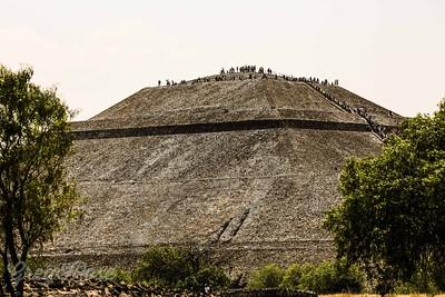 Long walk up The Sun Pyramid