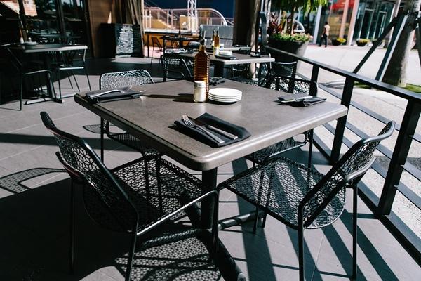 Steel table tops