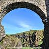 The bridge at Dunluce Castle, County Antrim