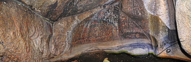 Secret Waterfall Inscriptions, Benton, CA