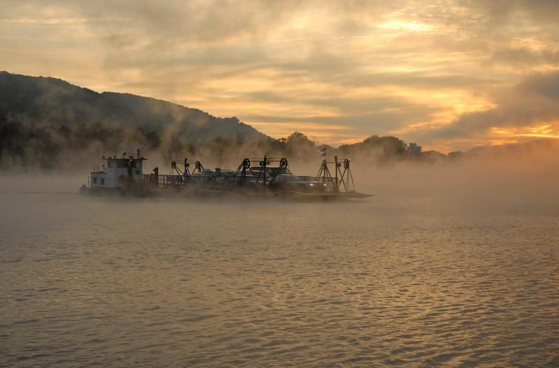 Lifting Sunrise Fog Crossing