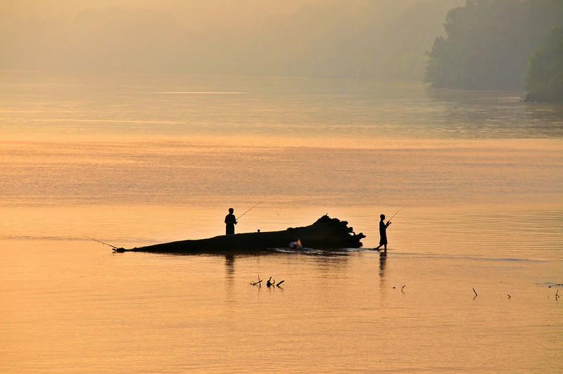 Summer Morning Fishing the Ohio River