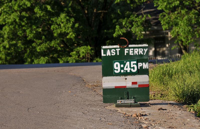Last Ferry 9:45 PM
