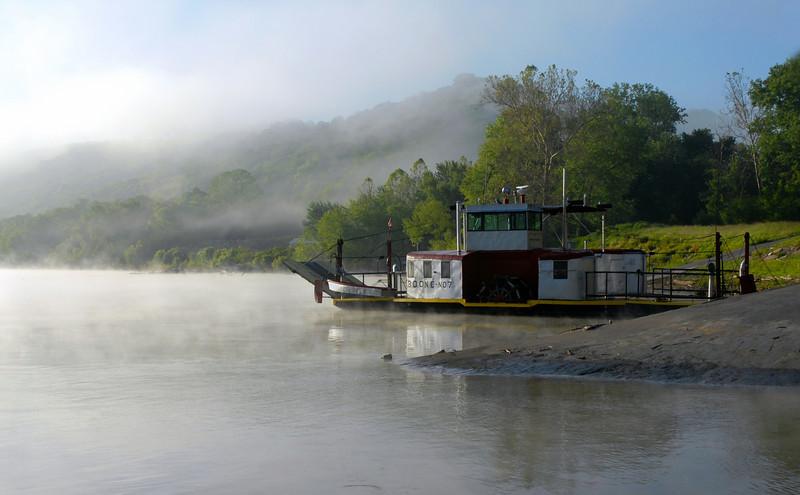 Morning Fog Burn Off, Anderson Ferry Boone 7