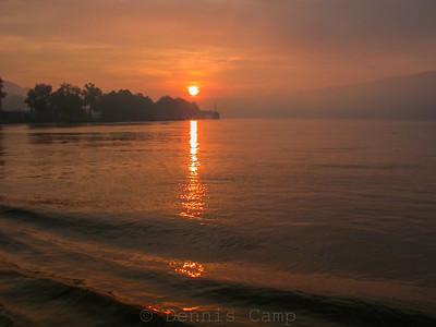 River Sunrise Wake